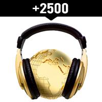 Comprar 2500 reproducciones internacionales en Spotify