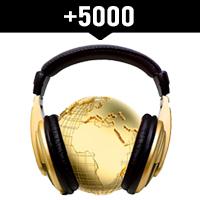 Comprar 5000 reproducciones internacionales en Spotify