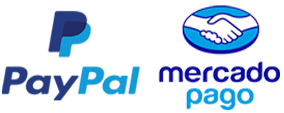 Dos métodos de pago: Paypal y Mercado Pago