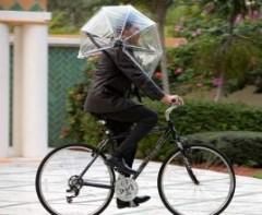 bicicleta cu umbrela