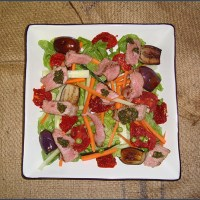 Beef and brinjal salad