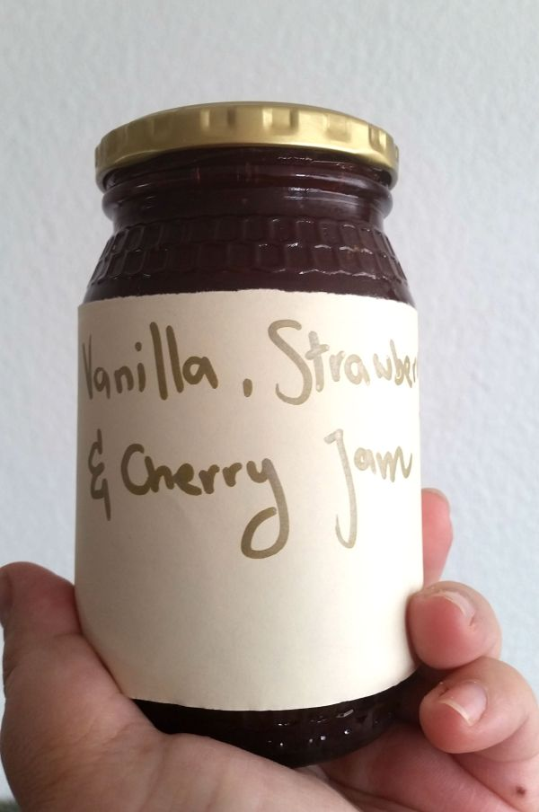 Vanilla, Strawberry and Cherry Jam