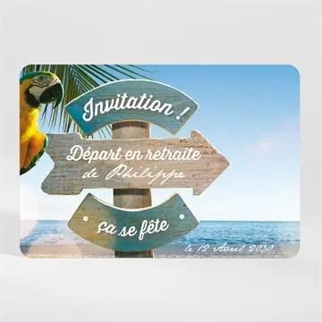 carte invitation depart a la retraite vacances meritees magnet