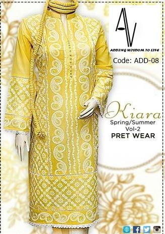YELLOW CHICKEN KARI WD Fabric: FINE LAWN Price: 3195 PKR 31$ Sizes: S,M,L,XL