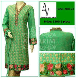 Fabric: Fine lawn Sizes: Small - Medium - Large Details: Exclusive resham butti jaal embroiderey work for shirt front. resham stiched embroidery work for shirt back and sleeves. exclusive colored embroidery work on shirt daman,sleeves cuff and neckline.