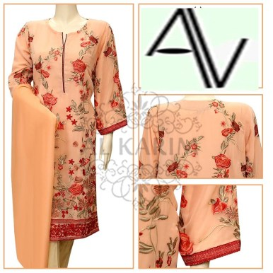 Product Code: ES 17 Fabric: Chiffon Price: 5125 PKR Sizes: Small - Medium DETAILS: Exclusive colored resham flower emb work all over shirt , fancy buttons Note : Embroidery shirts have been styled in the image for photography and illustrative purposes. The standard style comes as a long sleeved kameez & dupatta.