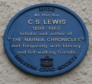 C.S. Lewis Plaque on the Unicorn Inn
