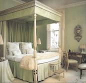 lee Radziwill green bedroom adecorativeaffair