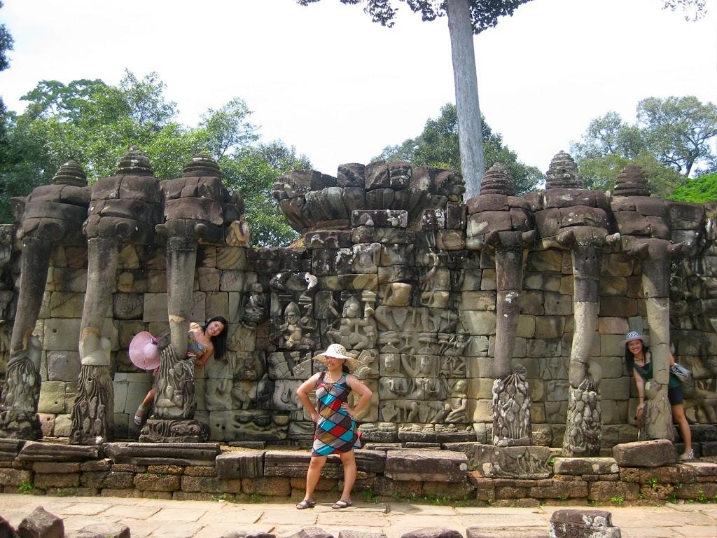 Cambodia elephant terrace