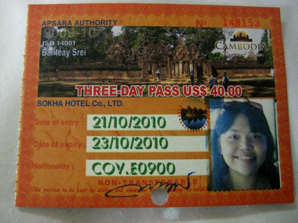 Cambodia temple pass