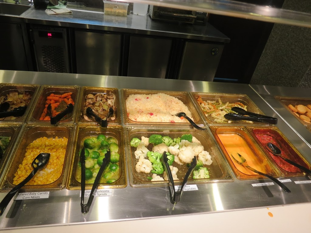A closer look at the buffet dishes