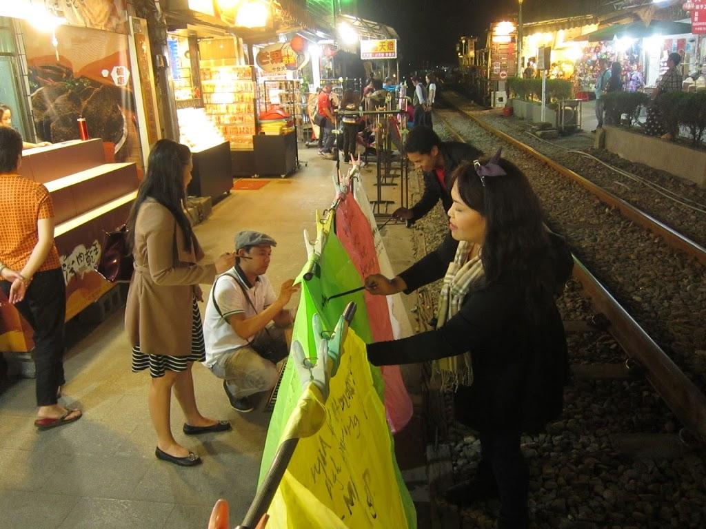 Taiwan lantern train tracks