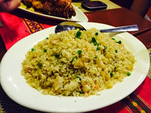 The Fat Monk seafood fried rice