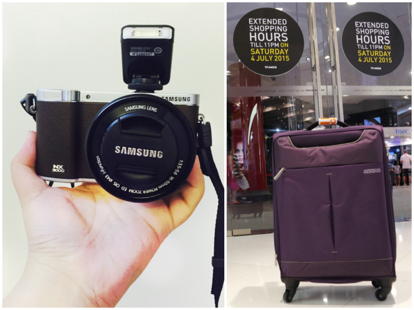 Samsung NX3000 and Luggage