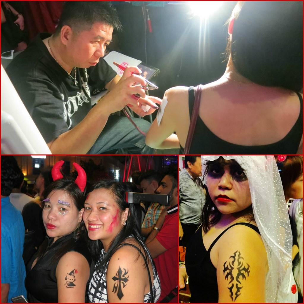 Halloween Clarke Quay tattoo