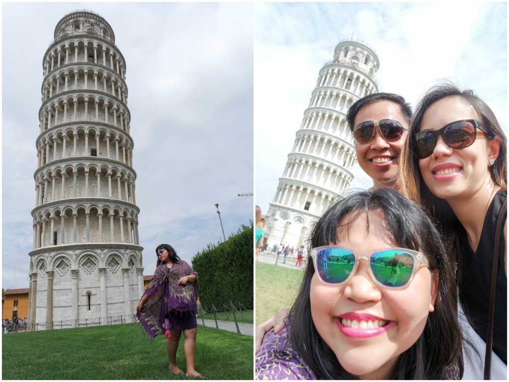 Leaning Tower of Pisa poses 3