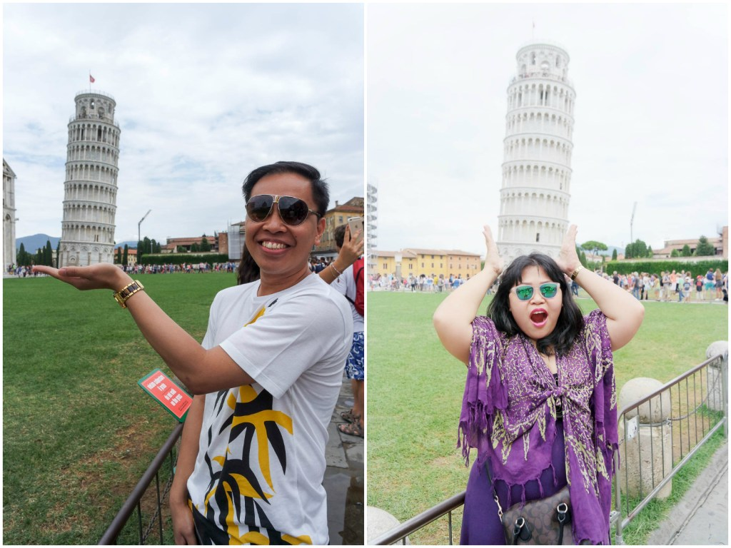 Leaning Tower of Pisa poses