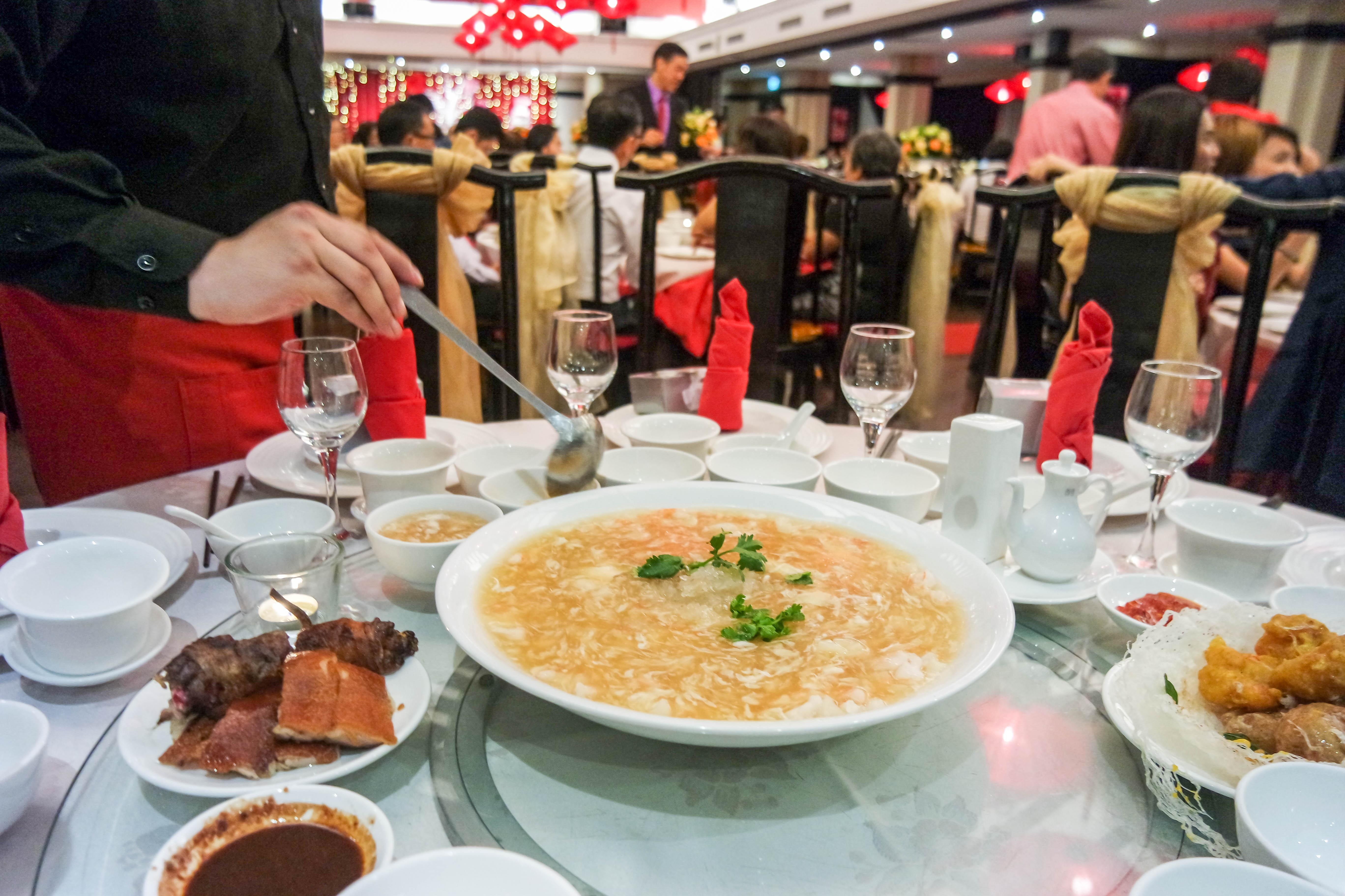 Peony Jade Wedding food review