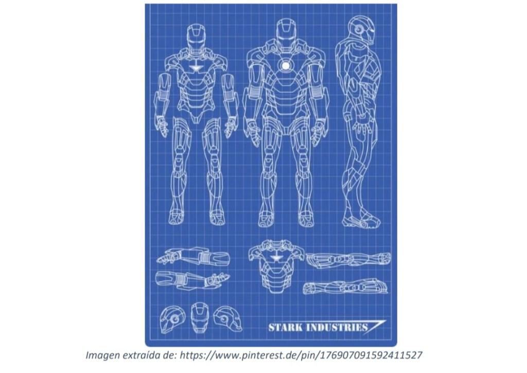 Planos de diseño del traje de Iron Man