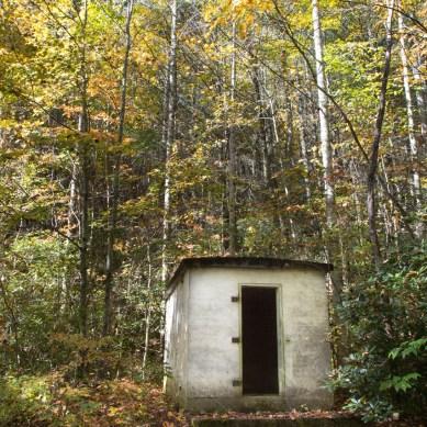Building on the trail, Roaring Fork Creek Falls, Pisgah National Forest, Blue Ridge Parkway, NC © Adel Alamo 2015