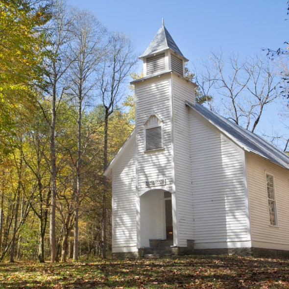 Palmer Chapel, Cataloochee Valley, Great Smoky Mountain National Park, NC © Adel Alamo 2015