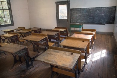 Classroom, Beech Grove School, Cataloochee Valley, Great Smoky Mountain National Park, NC
