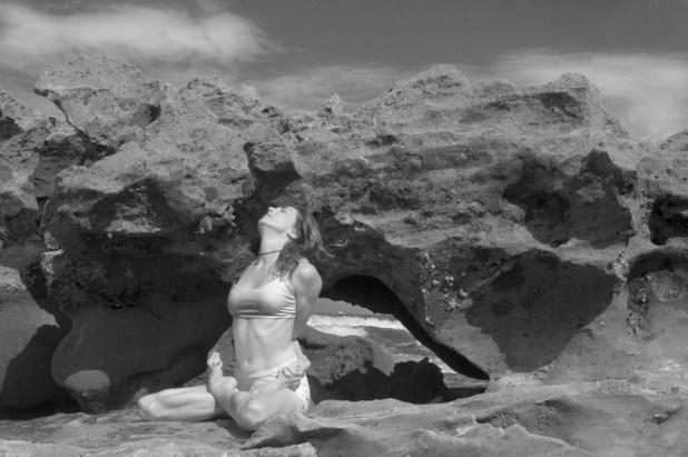 Joy Wolfe, Yoga, Prananda, Lotus pose, Blowing Rocks, Jupiter, FL