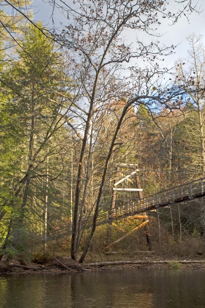 Toccoa River Swinging Bridge, Blue Ridge, GA © Adel Alamo 2014
