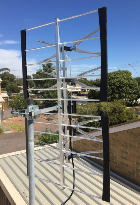 Adelaide foothills TV reception antenna Rostrevor