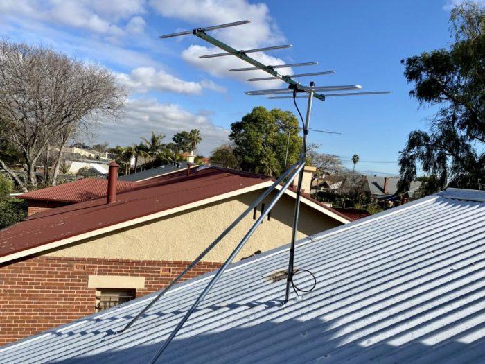 Move antenna for solar installation using Matchmaster digital antenna.