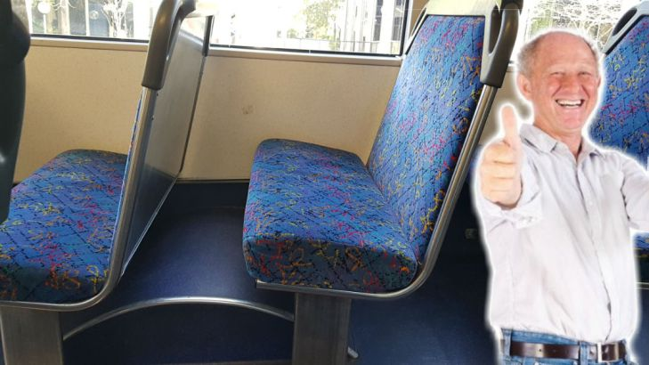 A man chose to sit in this seat