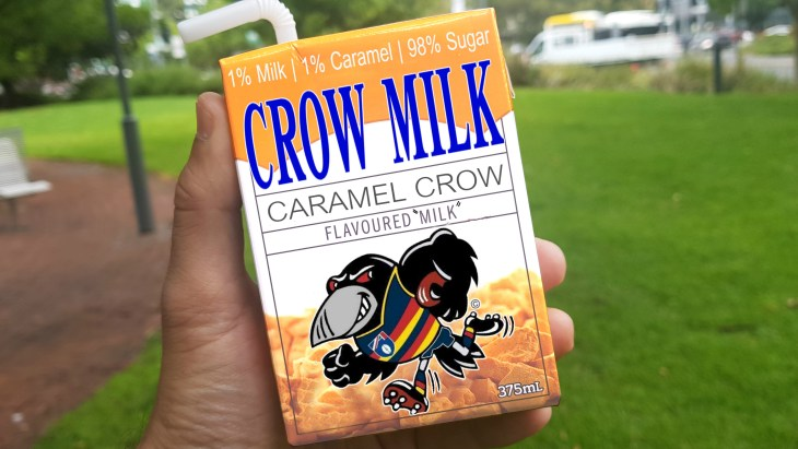 The 'popular' Crow Milk carton