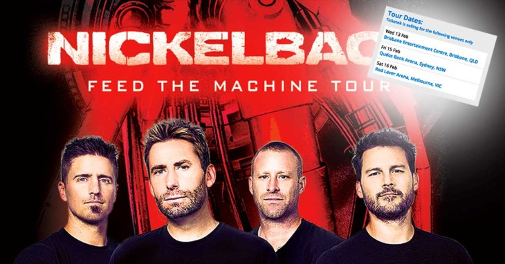 Nickelback's tour has gone unnoticed