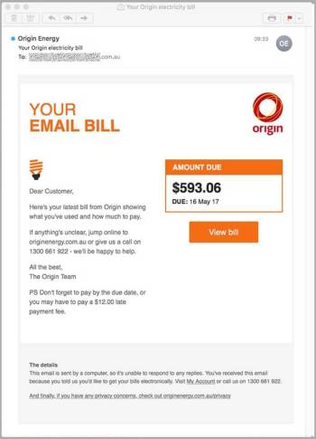 Origin Energy Scam Bill 2