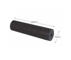 "8"" Parallel Boat Rollers - Rubber (17mm Bore)"