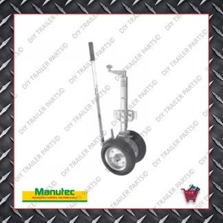 Easy Mover Jockey Wheel - Twin Pneumatic Wheels