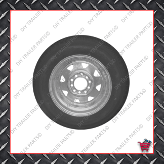 "13"" Multistud Ht/Ford Trailer Rim & Tyre - 155R13C - Galvanised"