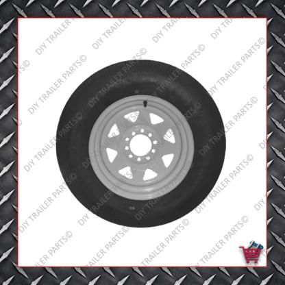 "13"" Multistud Ht/Ford Trailer Rim & Tyre - 155R13C"