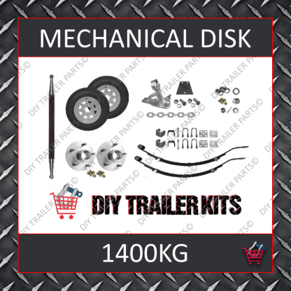 Single Axle Running Gear Kit - Disk Brake 1400kg (Parts Only)