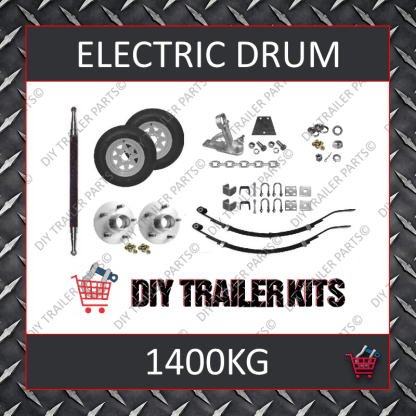 Single Axle Running Gear Kit - Electric Brake 1400kg (Parts Only)