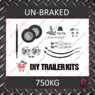 Single Axle Running Gear Kit - Un-Braked 750kg (Parts Only)