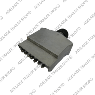 Flat Trailer Plug 7 Pin - Metal