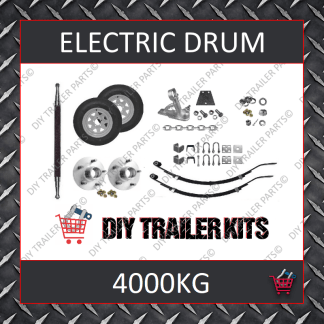 Tandem Axle Running Gear Kit - Electric Brake 4000kg (Parts Only)