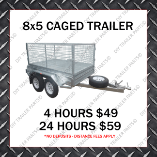 8x5 Caged Trailer Hire