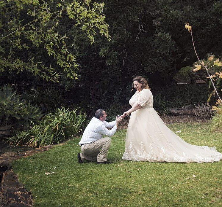 Proposal in the garden