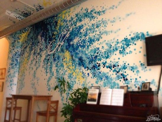 adelaparvu.com despre pereti interiori cu graffiti design Dudeman