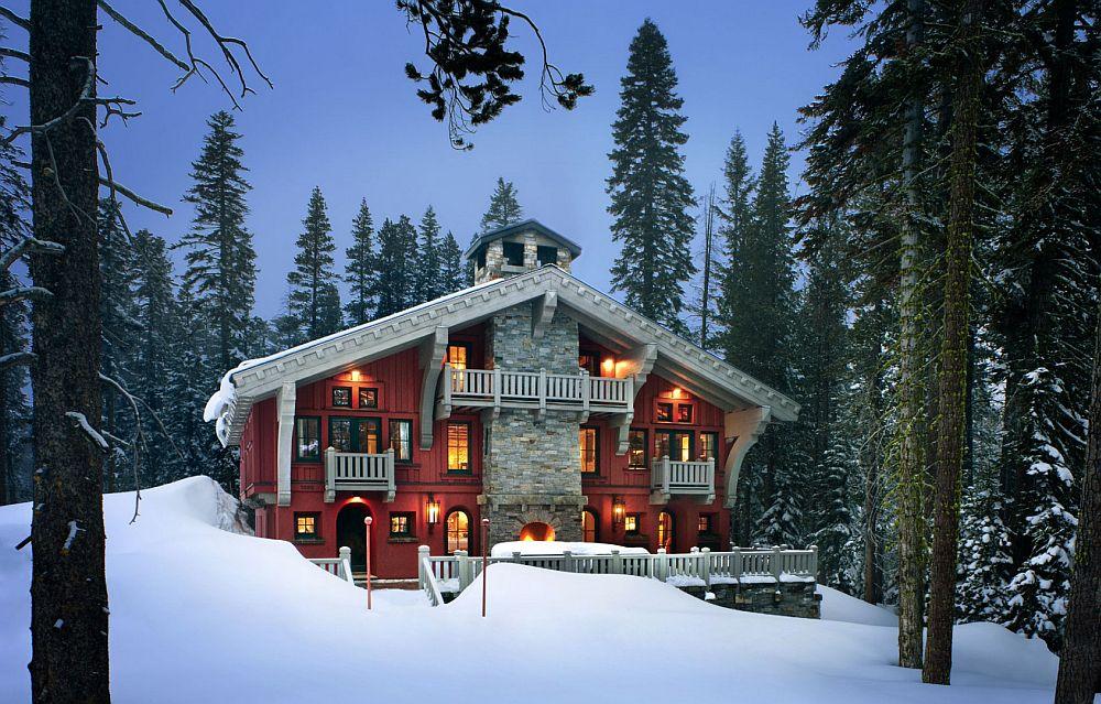 adelaparvu.com despre cabana de munte in SUA, chalet de schi in California, arhitecti John Malick & Associates, Foto David Wakley (5)