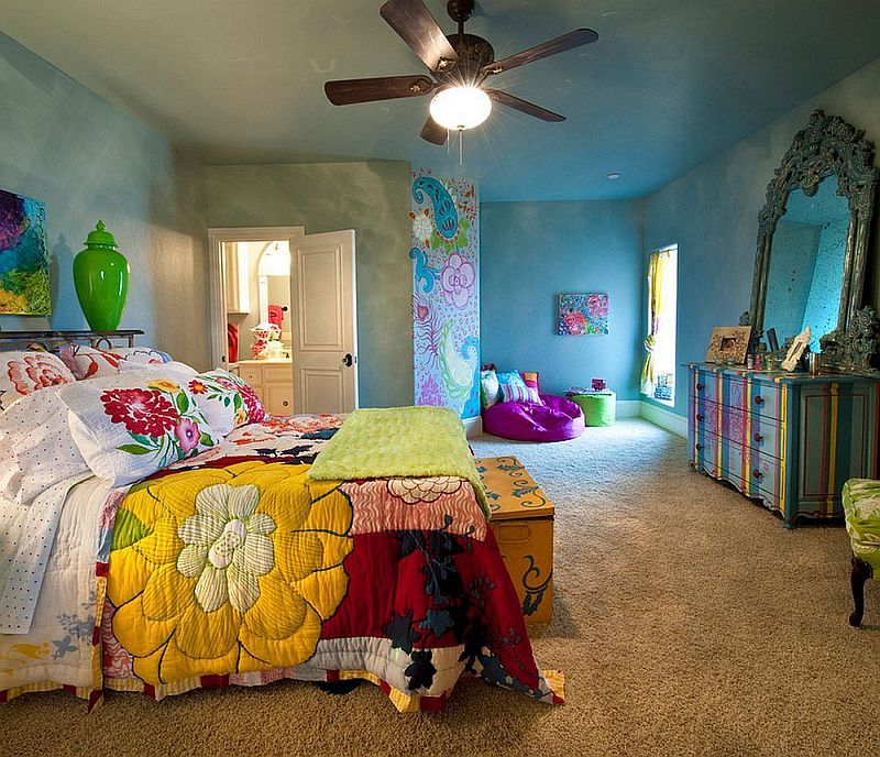 Piese de mobilier transformate si decor realizat prin decoratiuni textile