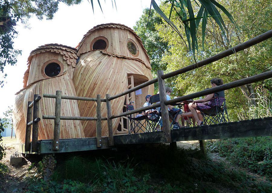 adelaparvu.com despre cabana in forma de bufnita, design Zebra3, Foto Bruitdufrigo Refuges Guetteurs (18)