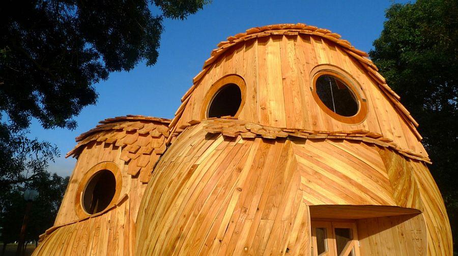 adelaparvu.com despre cabana in forma de bufnita, design Zebra3, Foto Bruitdufrigo Refuges Guetteurs (9)
